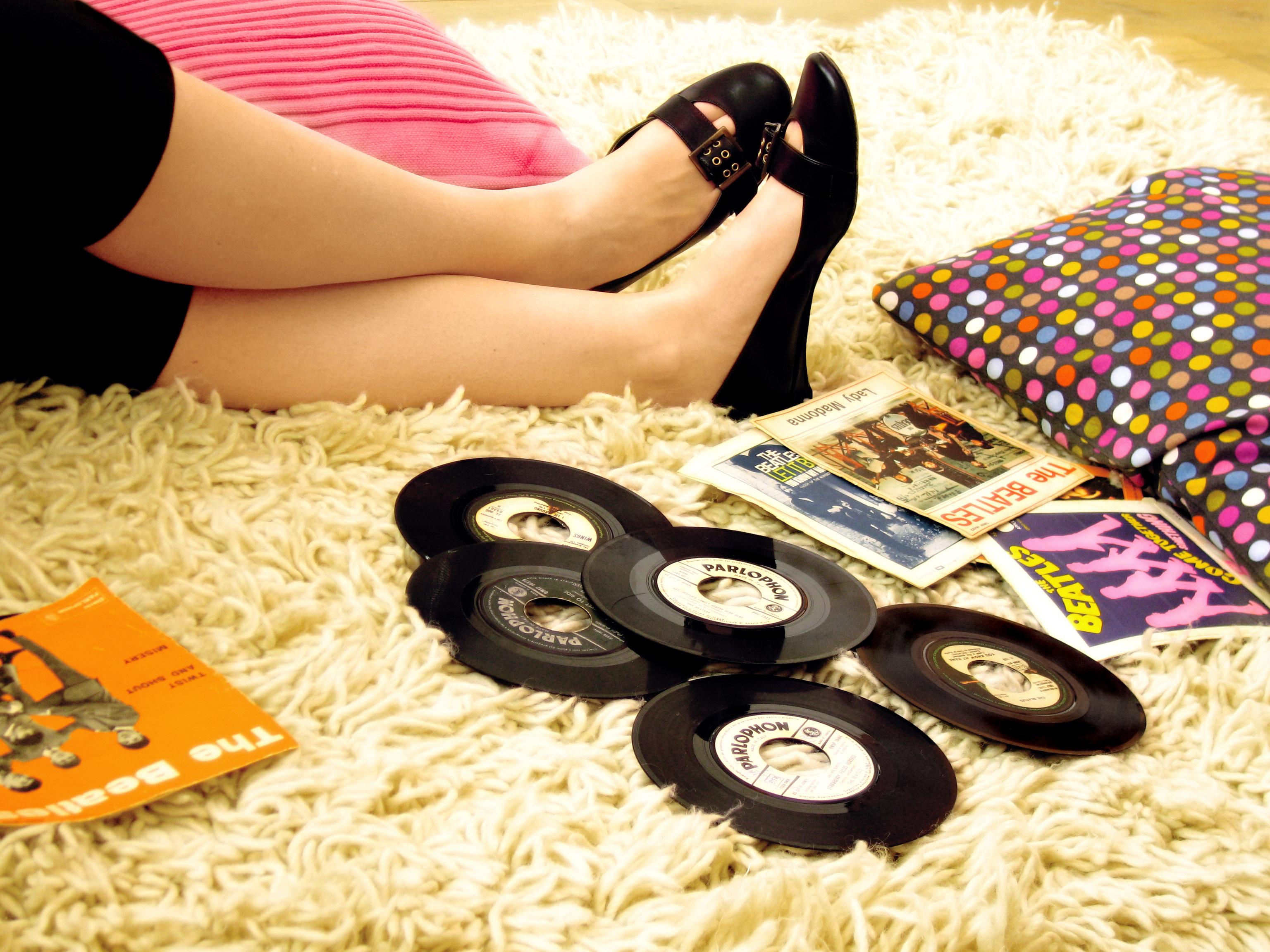 Vinyl platen grond